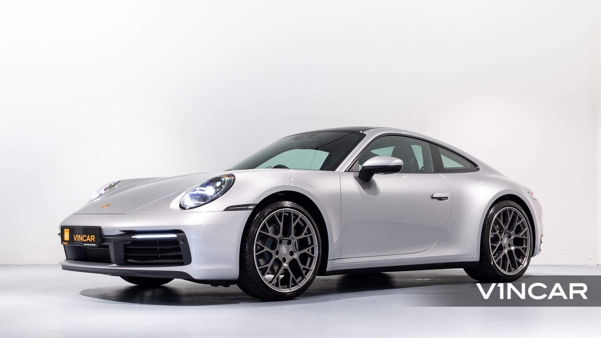 Porsche 911 Carrera (GT Silver Metallic) - Side Profile